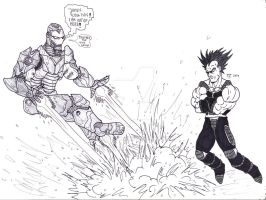 Iron Man Vs Saiyan by Bender18