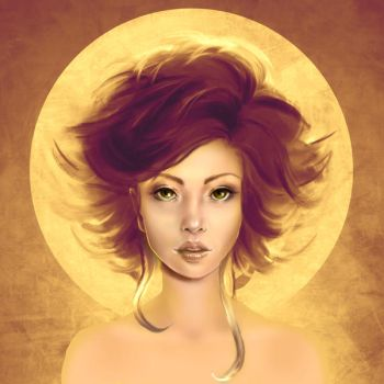 Golden Aureole by LenamoArt