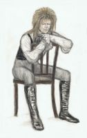 King Jareth sitting on a plain chair by gagambo