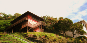 house on a hill. by lycheese