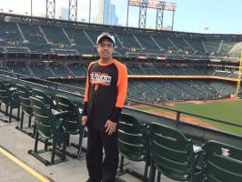 Me at the upper deck on right field foul line. by sfgiants58