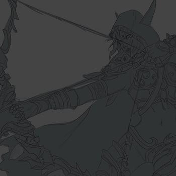 Sylvanas Fanart painting process gif by Rigrena