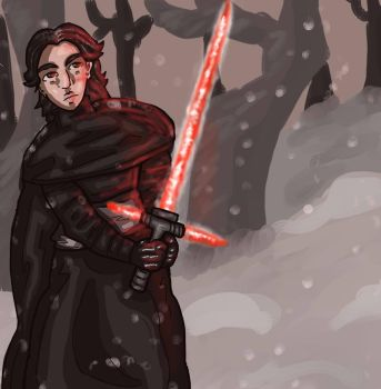 Kylo in the Snow by pinkublu