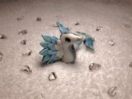 Ice Dragon Sculpture by Airy-Styles