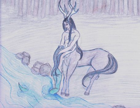 Centaur And Mermaid by serenawaters