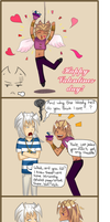 Marik Bakura valentines comic by yupon