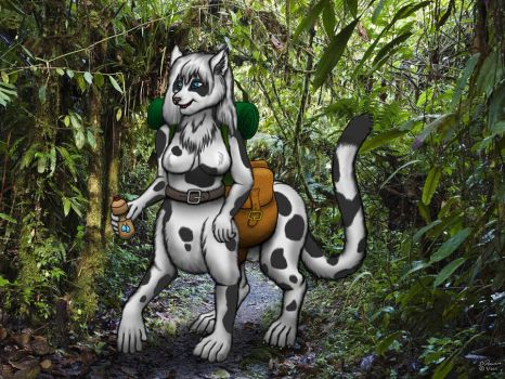 Bluestripe's Hike by chakat-goldfur