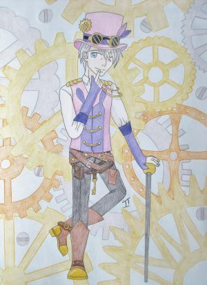 Yuri!!! on Ice Fan Art - Victor in Steampunk by Quina-chan
