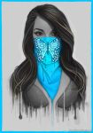 Masked Girl - Blue by Bomu