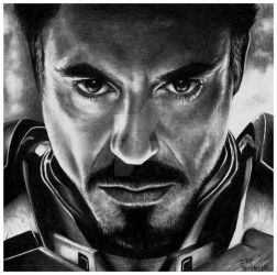 Iron Man - Robert Downey Jr by Doctor-Pencil