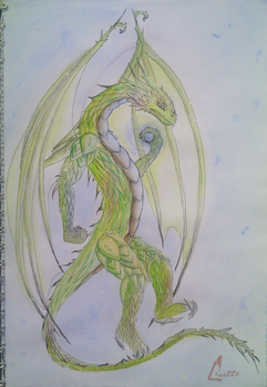 Green Dragon - Spiritual power by EmyWolf