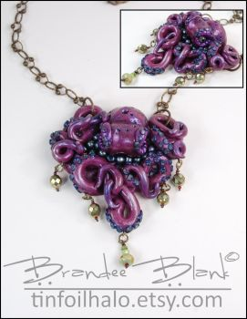 Another Octopus necklace by TinfoilHalo