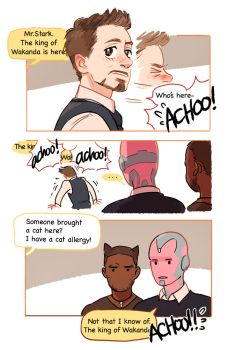 Tony's cat allergy by Hallpen