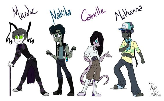 ShowBiz- Side characters by HugaDuck