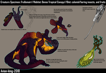 Creature Specimen: Frullomair by Avian-king