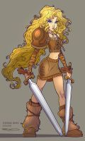 Character Design Twinblades 01 by RobDuenas