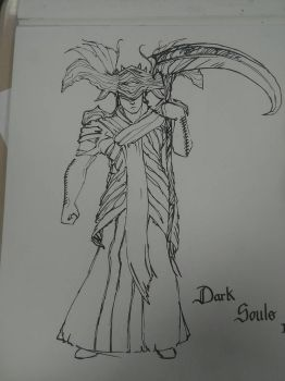 my dark souls character  by custumm