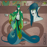 Character design: Serpent by Aivomata