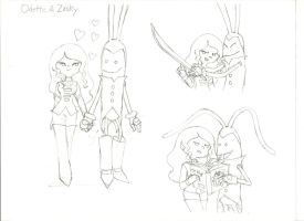 Odette and Zosky by peridive78