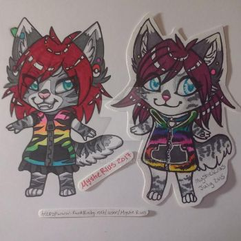 Draw this Again: Marker Cheebs Comparison by MystieRius