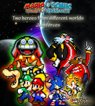 Mario  Sonic CV Promotional Poster 2 by Mazznick