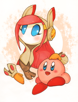 Kirby And Susie by Halgalaz