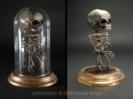 Bell Jar Baby sculpture by MrSoles