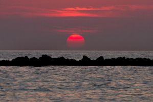 Red Tide Sunset by BrianMPhotography