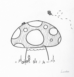 Inktober 2018 Day 11 - Toadstool by Lauralina
