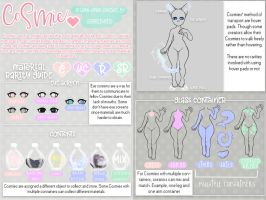 Cosmies Trait Sheet { OPEN SPECIES } by teaesthetic