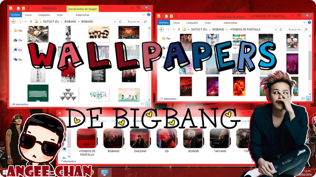 WALLPAPERS DE BIGBANG+FONDOS DE PANTALLA by ANGEE-CHANN