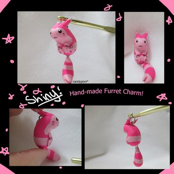 Hand-Made Shiny Furret Charm by candyponi
