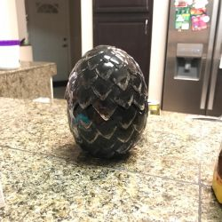 Ceramic Dragon Egg (Game of Thrones) Drogon by conwaysuccess