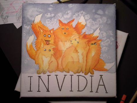 INVIDIA - Five Foxes by WolfdesNordens