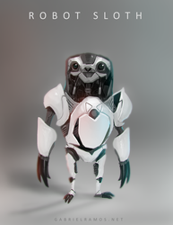Slowbot, the Robot Sloth! by GabeRamos