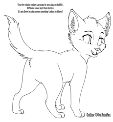 Kitten02 Outline by RukiFox