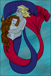 Cuddly Merpeople Colored by Leanai