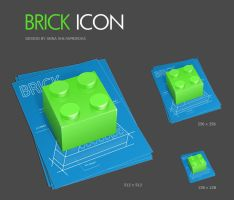 Brick icon by shlyapnikova