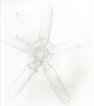 Sketchvember 5: The Ceiling Fan by chucklepink
