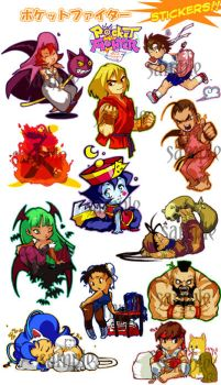 Pocket Fighters by pu