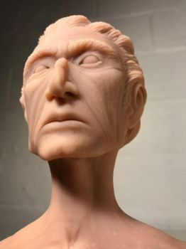 Imaginary Man Bust, WIP by KexLuthor