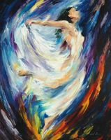 Angel Of Love by Leonid Afremov by Leonidafremov