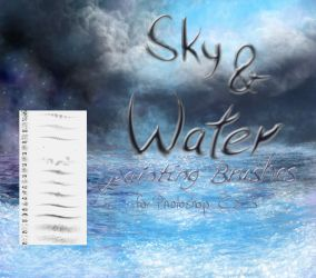Sky and Water painting brushes by El-Chupacabras