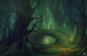 The Forest Path by Nele-Diel