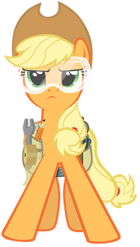 Applejack ready to save the day by Tardifice