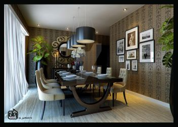 Simple Dining Room by deguff
