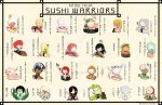 SW: Know Your Sushi Warriors by Cydnee-B