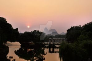 Evening Lake View by PeiJunPictures