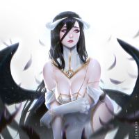 Albedo pinup by Zeronis