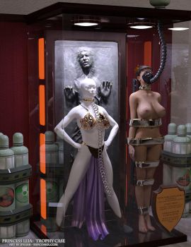 Princess Leia Trophy Case by thejpeger